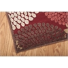 """Nourison Graphic Illusions Runner Rug  By Nourison, Red, 2'3"""" X 8'"""