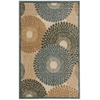 "Nourison Graphic Illusions Rectangle Rug  By Nourison, Teal, 3'6"" X 5'6"""