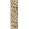 "Graphic Illusions Runner Rug By, Light Gold, 2'3"" X 8'"