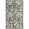 "Graphic Illusions Rectangle Rug By, Grey, 3'6"" X 5'6"""