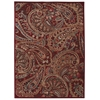 "Nourison Graphic Illusions Rectangle Rug  By Nourison, Red, 7'9"" X 10'10"""