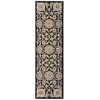 "Nourison Graphic Illusions Runner Rug  By Nourison, Black, 2'3"" X 8'"