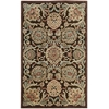 "Graphic Illusions Rectangle Rug By, Chocolate, 3'6"" X 5'6"""
