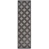 "Nourison Graphic Illusions Runner Rug  By Nourison, Grey, 2'3"" X 8'"