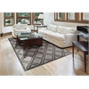 "Graphic Illusions Rectangle Rug By, Ivory, 5'3"" X 7'5"""