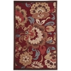 "Graphic Illusions Rectangle Rug By, Red, 3'6"" X 5'6"""