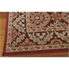 "Graphic Illusions Rectangle Rug By, Red, 5'3"" X 7'5"""