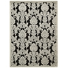 Graphic Illusions Black Area Rug