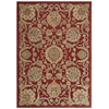 Graphic Illusions Red Area Rug