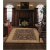 "Nourison Heritage Hall Rectangle Rug  By Nourison, Brown, 7'9"" X 9'9"""