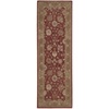 "Nourison Heritage Hall Runner Rug  By Nourison, Brick, 2'6"" X 8'"