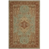 "Heritage Hall Rectangle Rug By, Aqua, 5'6"" X 8'6"""