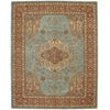 "Nourison Heritage Hall Rectangle Rug  By Nourison, Aqua, 7'9"" X 9'9"""