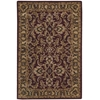 "Nourison India House Rectangle Rug  By Nourison, Burgundy, 3'6"" X 5'6"""