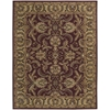 India House Rectangle Rug By, Burgundy, 8' X 10'6""