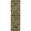 "Nourison India House Runner Rug  By Nourison, Green, 2'3"" X 7'6"""