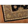 India House Black Area Rug
