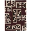 "Nourison Bbl17 Intermix Rectangle Rug  By Nourison, Union Jack, 5'3"" X 7'5"""