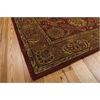"Nourison Jaipur Rectangle Rug  By Nourison, Burgundy, 5'6"" X 8'6"""