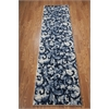 "Ki02 Santa Barbara Runner Rug By, White Navy, 2'2"" X 8'"