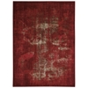 "Nourison Karma Rectangle Rug  By Nourison, Red, 5'3"" X 7'4"""