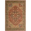 Living Treasures Rust Area Rug