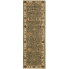 "Living Treasures Runner Rug By, Green, 2'6"" X 8'"