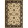 "Nourison Living Treasures Rectangle Rug  By Nourison, Ivory Black, 5'6"" X 8'3"""