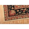 "Living Treasures Rectangle Rug By, Ivory Black, 7'6"" X 9'6"""