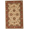 Living Treasures Ivory/Red Area Rug