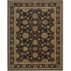 "Living Treasures Rectangle Rug By, Black, 7'6"" X 9'6"""