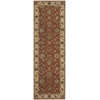 "Nourison Living Treasures Runner Rug  By Nourison, Rust, 2'6"" X 8'"