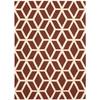 Linear Brick/Ivory Area Rug