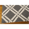 Nourison Linear Rectangle Rug  By Nourison, Grey Ivory, 5' X 7'
