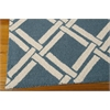 Linear Rectangle Rug By, Teal Ivory, 5' X 7'