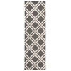 "Linear Runner Rug By, Grey Ivory, 2'3"" X 7'6"""