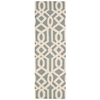 "Linear Runner Rug By, Aqua Ivory, 2'3"" X 7'6"""