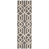 "Nourison Linear Runner Rug  By Nourison, Grey Ivory, 2'3"" X 7'6"""