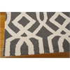 Linear Rectangle Rug By, Grey Ivory, 5' X 7'