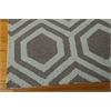 Linear Rectangle Rug By, Grey Aqua, 5' X 7'