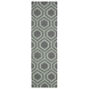 "Linear Runner Rug By, Grey Aqua, 2'3"" X 7'6"""