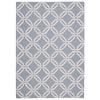 Linear Rectangle Rug By, Light Blue, 5' X 7'