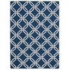 Linear Rectangle Rug By, Navy, 5' X 7'