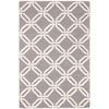 "Nourison Linear Rectangle Rug  By Nourison, Silver, 3'9"" X 5'9"""