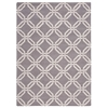 Linear Rectangle Rug By, Silver, 5' X 7'