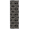 "Linear Runner Rug By, Black White, 2'3"" X 7'6"""