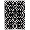 Linear Rectangle Rug By, Black White, 5' X 7'