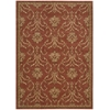 "Nourison Radiant Impression Rectangle Rug  By Nourison, Persimmon, 5'6"" X 7'5"""