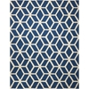Linear Blue/Ivory Area Rug