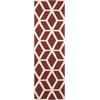 Linear Brick/Ivory Area Rug